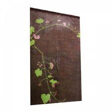 Kyoto Noren Japanese hanging curtain hand dye art nouveau Wild grape Brown japan