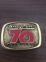 Snap On Tools 70th Anniversary Solid Brass Belt Buckle