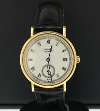 Breguet Classique 34mm 18k Yellow Gold Black Leather Strap Date Ref. 5920