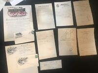 1890's Large Lot of Wisconsin Companies Receipts Invoices Covers Letterhead