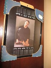 "FRAME 8"" X 10"" Black Metal Ricky Martin Livin La Vida Loca  Frame New"