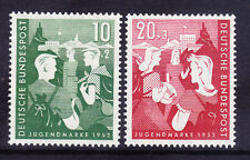 GERMANY 1952 SG108/1 Youth Hostels Fund pair - unmounted mint. Catalogue £60