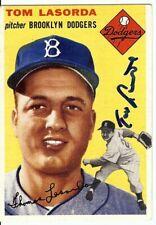 Tommy Lasorda Autographed Baseball Card Auto 1954 Topps RC Rookie Dodgers COA
