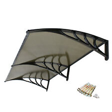 80''x 40'' Window Awning Outdoor Polycarbonate Front Door Patio Cover Canopy