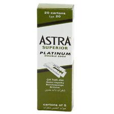50x100ct Astra Superior Platinum Double Edge Shaving Razor Blades +5razor