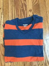 Men's Old Navy Classic Striped V-Neck- Orange and Blue- Size Extra Large- XL