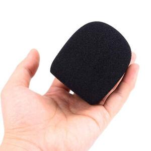 5X Microphone Windscreen Filter Sponge Foam Wind Shield Mic Cover Black New