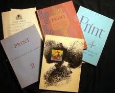 1940-41 PRINT GRAPHIC ARTS 4 VOLS DWIGGINS O'KEEFE ARTZYBASHEFF KREDEL BEMELMANS