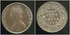 INDE    half  anna  1862  ( bis )