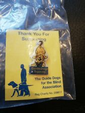 Guide Dogs For The Blind Association Charity Enamel Pin Badge Training FREE POST