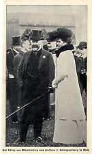 Der König von Württemberg und Freifrau v.Schweppenburg in Weil 1902