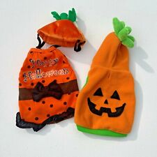 Dog Halloween Costumes Size Small Pumpkin and Orange and Black Dress