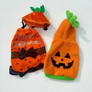 Dog Clothing Costumes Size Small Pumpkin and Orange Black Dress Free Shipping