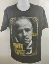 The Godfather Power & Respect Adult Black T Shirt Large Classic Gangster Movie
