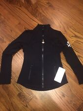 Lululemon Women's Jacket NWT Size 8 Black Long Sleeve MSRP $118 Super Bowl Logo