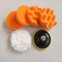 Sponge Tool 3 Inch Set Kit Car Polish Polishing Buffer Pad Drill Adapter