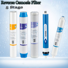 Filter Set for Standard 5 Stage Reverse Osmosis Water filter System 50 GPD RO
