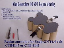 SNAP-ON 18v BATTERY DIY  INSERT KIT -- NO SOLDERING* -- EASIEST KIT ON EBAY