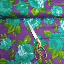 100% Cotton Indian Printed Purple Floral Soft Summer Dress Craft Fabric 112cm