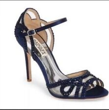 badgley mischka Blue Crystal Heels Sz36.5