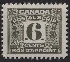 Canada Revenue VanDam # Fps28 6c olive Postal Note stamp of 1967 Mlh