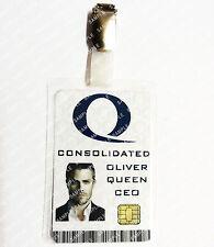 Arrow ID Badge Queen Consolidated Oliver Queen Cosplay Costume Prop Christmas