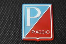 VESPA Piaggio Legshield Blue/Red Adhesive Badge