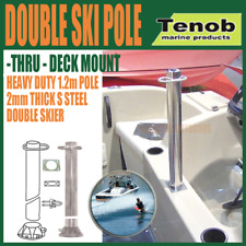 Tenob Double Water Ski Pole Thru-Deck Mount Stainless Steel Heavy Duty RWB5193