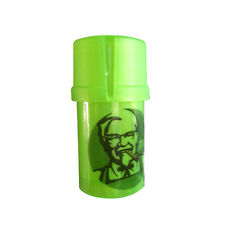1 X THC 3 Layers Plastic Tobacco Herb Spice Grinder w/ Storage Container - Green