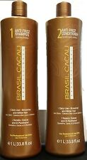 BRASIL CACAU ANTI FRIZZ SHAMPOO 1 LITRE AND CONDITIONER 1 LITRE FREE SHIPPING
