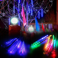 Waterproof Meteor Shower LED String Lights Xmas Tree Party Outdoor Garden Decor