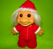 Russ Troll Doll Christmas Santa Claus Elf with Back Flap with Sticker 8'' (21cm)