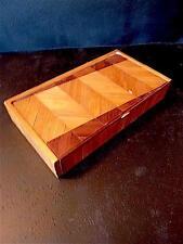 Boite Art Deco 1950 MARQUETERIE DE PAILLE  STYLE JEAN MICHEL FRANK Box 20th XX