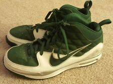 Nike Men's Size 13 1/2 Green White Silver Basketball Shoes 13.5