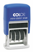 Colop Mini Dater Self Inking Ink Rubber Date Stamp S120