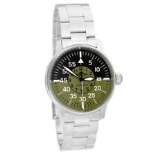 Fortis Aviatis Flieger Olive Drab Green Military Men's Auto Watch 595.11.16 M
