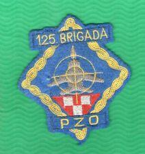 CROATIA ARMY MILLITARY PATCH  125 GARDIJSKA BRIGADA NOVSKA 1991-1992  PZO RARE