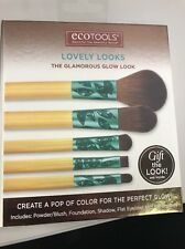 EcoTools Makeup Brush Set Lovely Looks The Glamorous Glow Look 5 Pieces BNIB