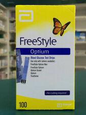 Abbott FreeStyle Optium Glucose Blood Test Strips - 100 Pack