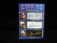 Joe Montana Dan Marino John Elway Iconic Ink Triple Cuts