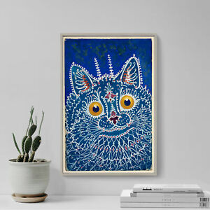 Louis Wain - A Cat in Gothic Style (1925) - Painting Photo Poster Print Art Gift