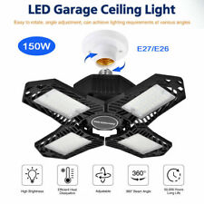 150W 15000LM LED Garage Light Bulb Deformable Shop Ceiling Fixture Workshop Lamp