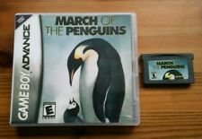 MARCH OF THE PENGUINS - Nintendo Gameboy Advance Game + Custom Cover GBA