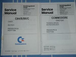 COMMODORE C64 u. Disc Drive 1540/1541 komplette Service Unterlagen Bücher