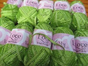 MY LOVE Wool Kinds  Creative Ribbon Knitting Yarn -  Lime Green