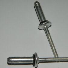 50 Stk SPREIZNIETEN 4,0x12 Alu//Stahl  SCHWARZ  RAL9005 lackiert