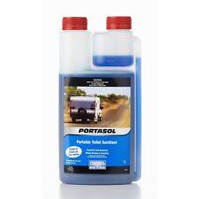 Portasol Portable Toilet Sanitiser for Caravan Camping & Boat 1L Anti Bacterial