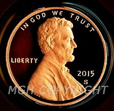 2015 S PROOF Lincoln Shield Cent Penny Coin Deep Cameo GEM from Mint Proof Set