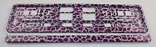 Kennzeichenhalter Kennzeichenhalterung pink Leopard Optik