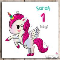 Unicorn Birthday Card Daughter Sister Granddaughter Unicorns 1st 2nd 3rd 4th 5th